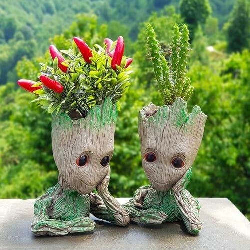 Groot Flowerpot Pen Holder | Groot Pen Holder | The Geeky Bone