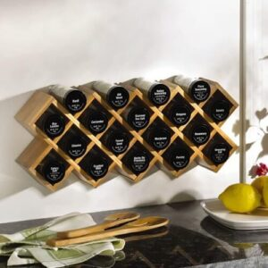 Criss Cross Bamboo Spice Rack