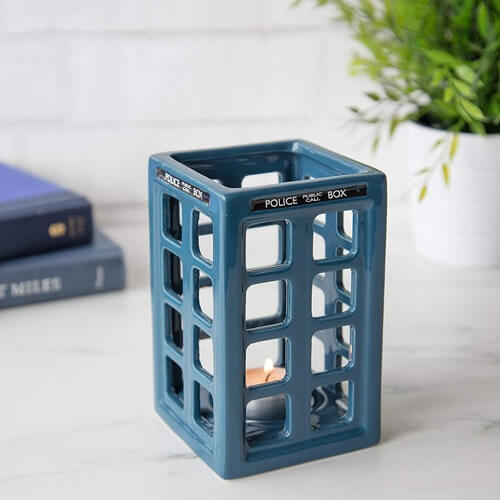 dr who tardis candle holder