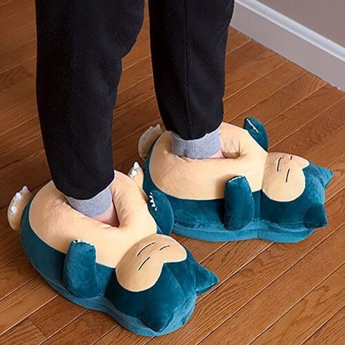 Pokemon Snoring Snorlax Slippers