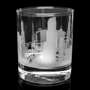 Chicago Skyline Whiskey Glass
