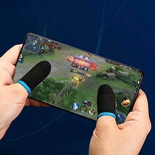 Hands with Gaming Controller Finger Sleeve