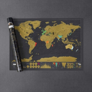 Travel Art World Map