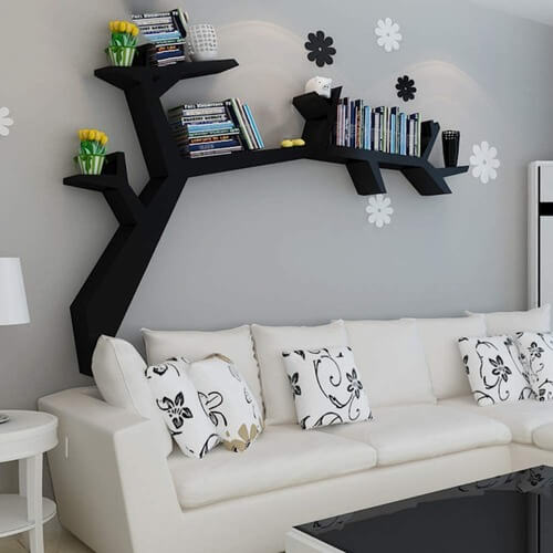 Tree Shape Bookshelf | Tree Shaped Book Case | The Geeky Bone