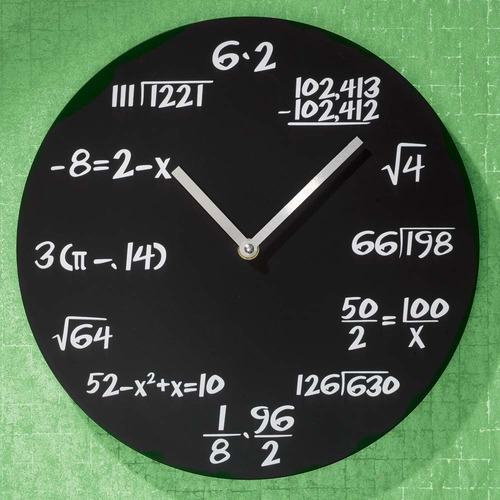 Unique Wall Math Clock | Decodyne Math Wall Clock | The Geeky Bone