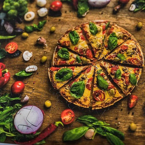 Wooden Jigsaw Pizza Puzzle | Pizza Puzzle | The Geeky Bone