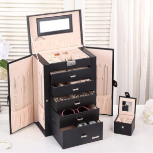 2 In 1 Leather Jewelry Box