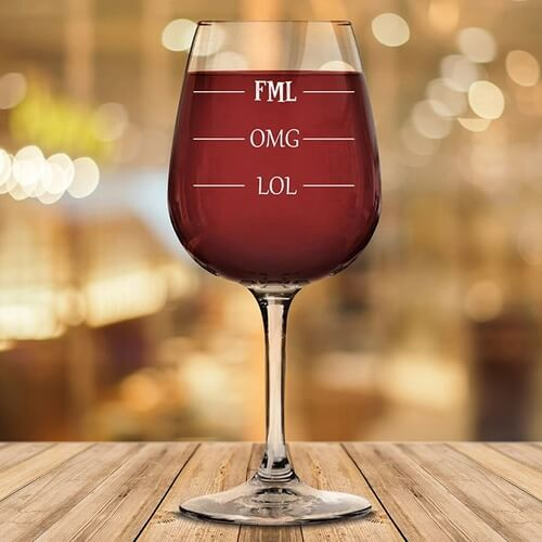 wine glasses with funny sayings
